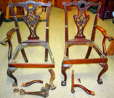 furniture repair pictures chippendale chairs for repair